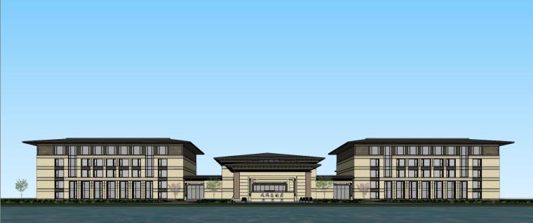 [河南]郑州凤凰岛国宾馆建筑模型设计(中式风格)-知名地产郑州凤凰岛国宾馆 中式最终 (17)