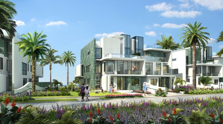 [广东]珠海华发绿洋湾滨海豪宅建筑模型设计(现代风格)-现代风格滨海豪宅 (12)