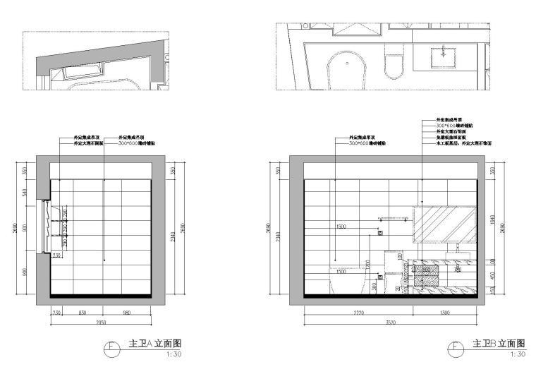 [浙江]杭州林风花园映水苑2号楼样板间图纸-立面图