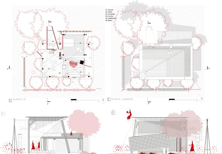 厄瓜多尔飞瓦小屋-1_planos