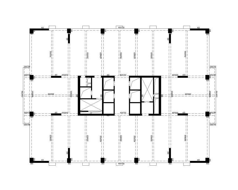 T4塔楼21~26层平面布置图