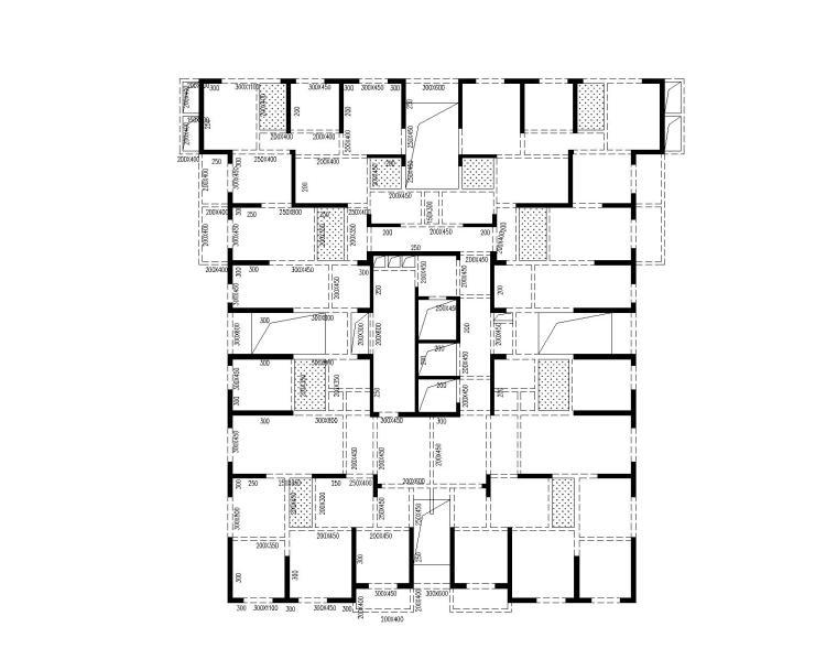 A01(A02,A03)号楼五~二十一层平面布置图