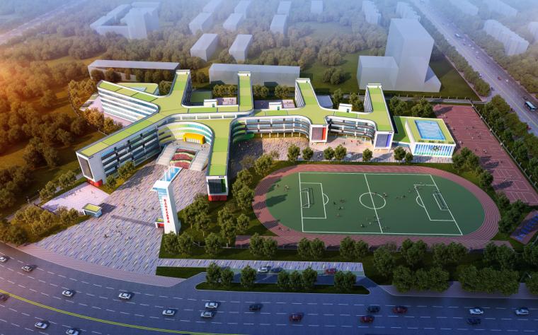 [河南]郑东新区文苑学校建筑模型设计