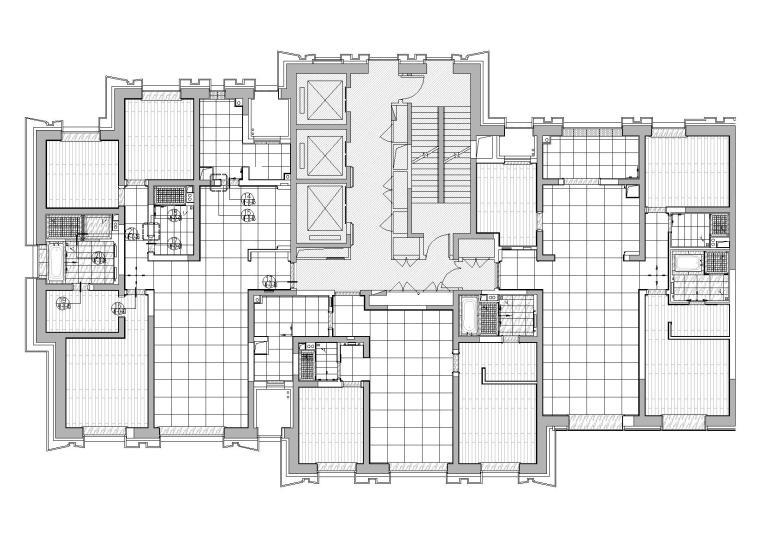 [天津]中信城市广场项目二期R1成品房施工图-地面铺装图