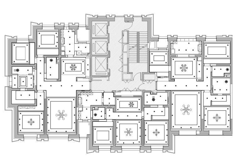 [天津]中信城市广场项目二期R1成品房施工图-天花造型图