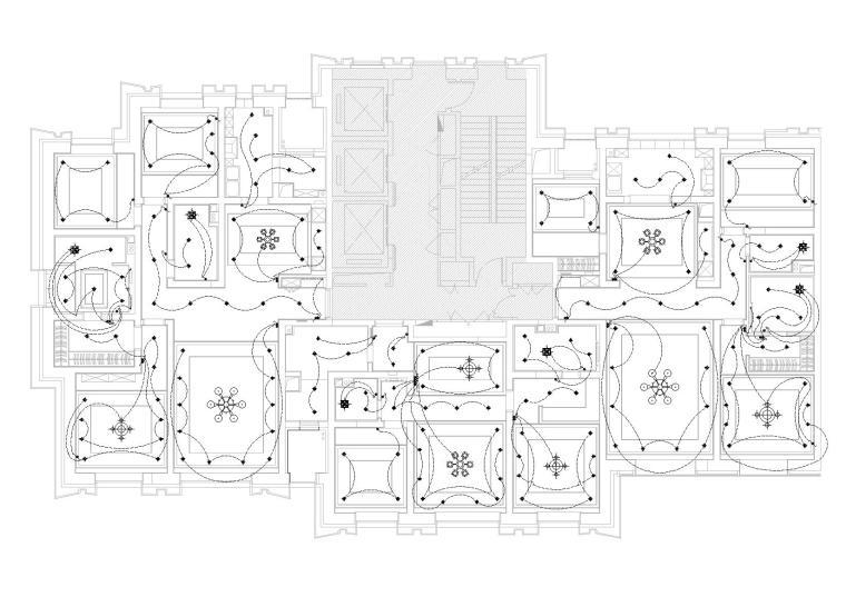 [天津]中信城市广场项目二期R1成品房施工图-开关布置图