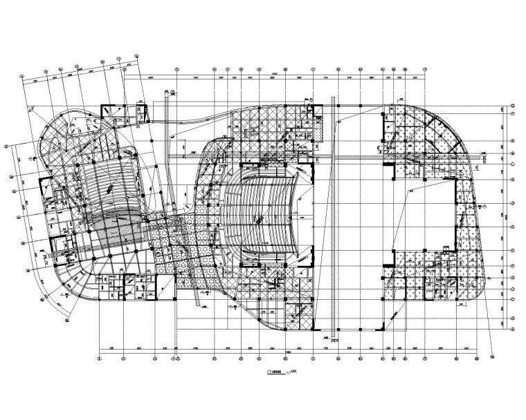 8层框剪结构大剧院建筑结构施工图2016