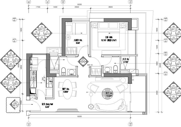 [广东]华润大涌3套样板间室内装修施工图+深化软装设计方案+官方摄影图片