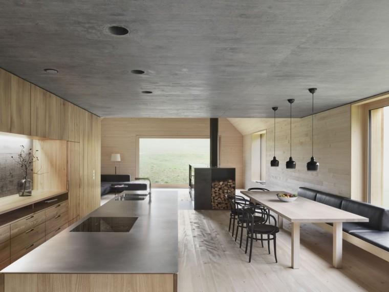 奥地利旷野中的住宅-Cooking_Dining_Haus_am_Moor
