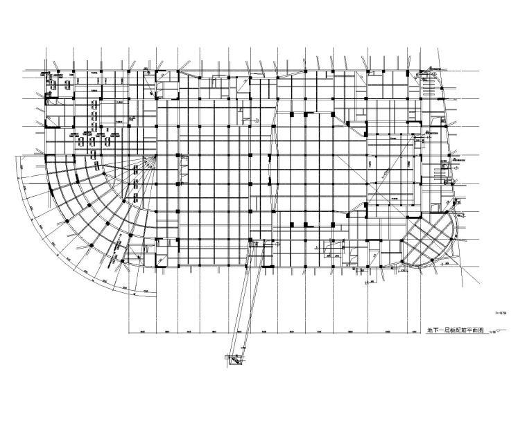 工人文化宫建筑结构施工图(粘结预应力结构)