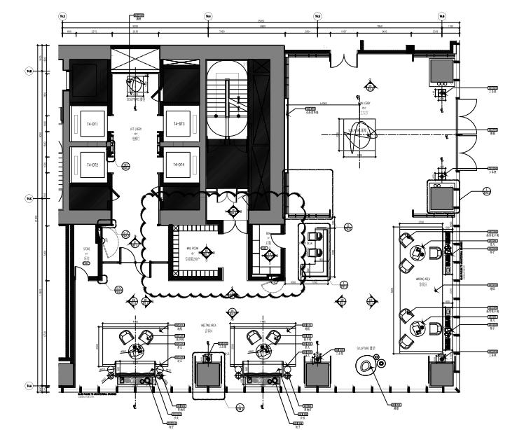 华润公寓大堂+电梯间室内装修施工图+软装方案+效果图+物料表