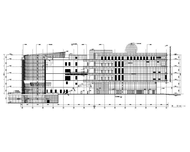 泉州规划科技馆建筑立面图