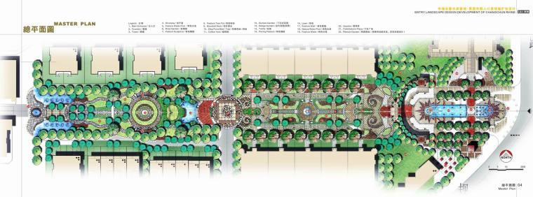 [吉林]知名地产长春水岸春城·莱茵东郡入口景观轴扩初设计(景观手绘-04