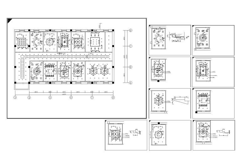 室内装修常用CAD平面图库-室内cad装修天花造型-模型