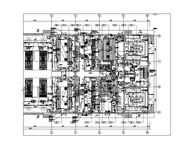 上海大型工厂机房暖通设计施工图