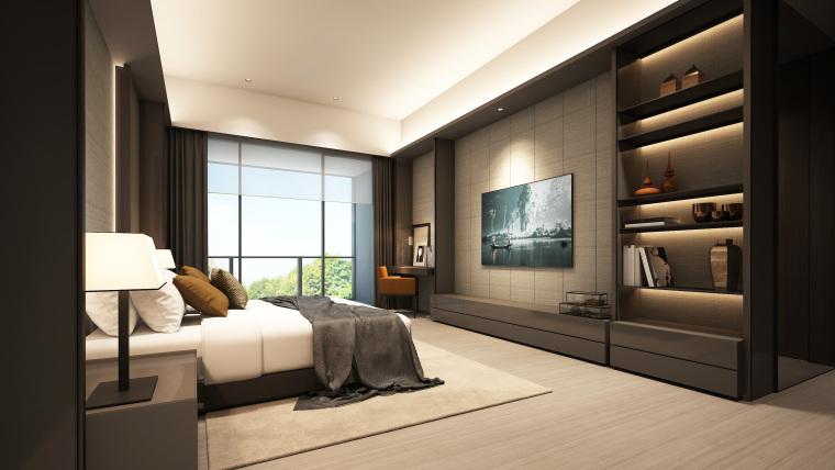 知名地产公寓D户型样板间室内装修施工图+效果图+物料表-01 (4)