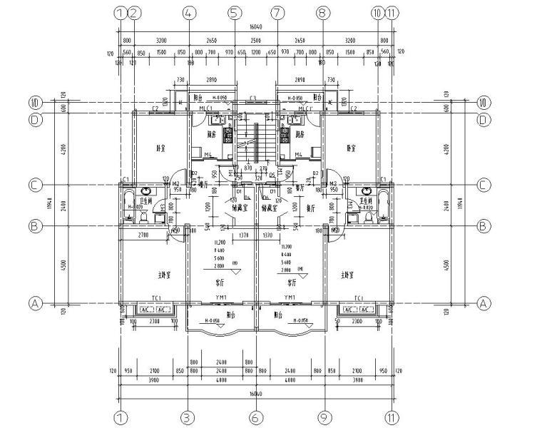 六层阁楼一梯二户住宅楼设计图 含详图户型图