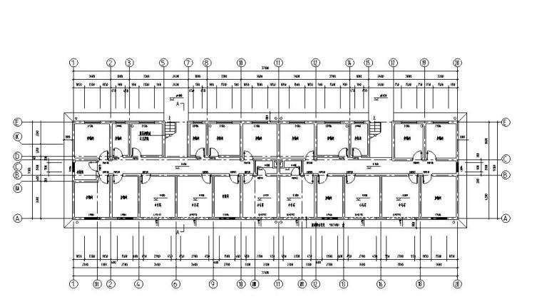 6层2单元每单元2户住宅楼户型图