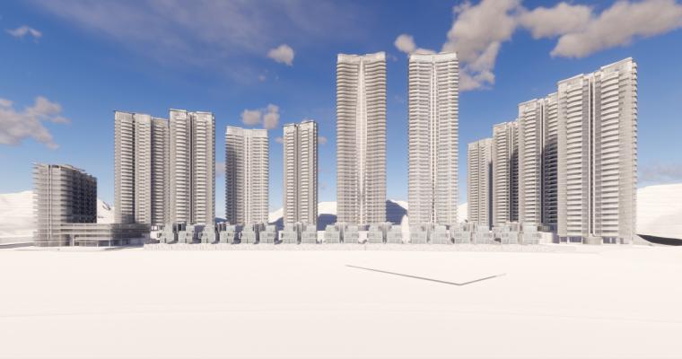 [广东]珠海华发绿洋湾滨海豪宅建筑模型设计(现代风格)-现代风格滨海豪宅 (15)