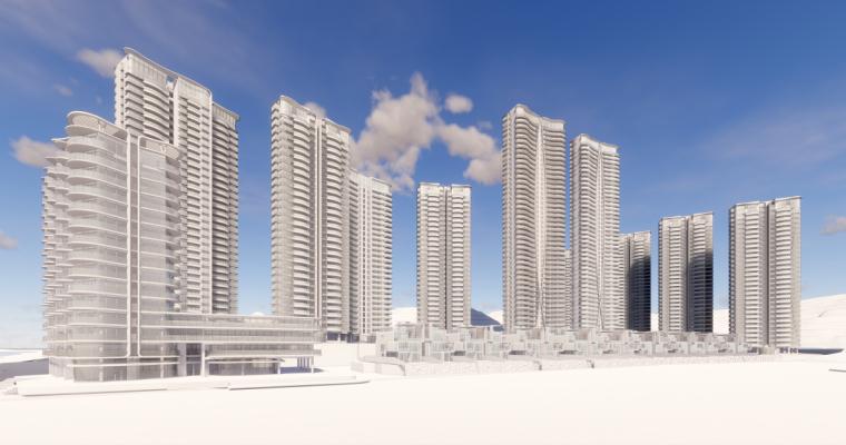 [广东]珠海华发绿洋湾滨海豪宅建筑模型设计(现代风格)-现代风格滨海豪宅 (16)