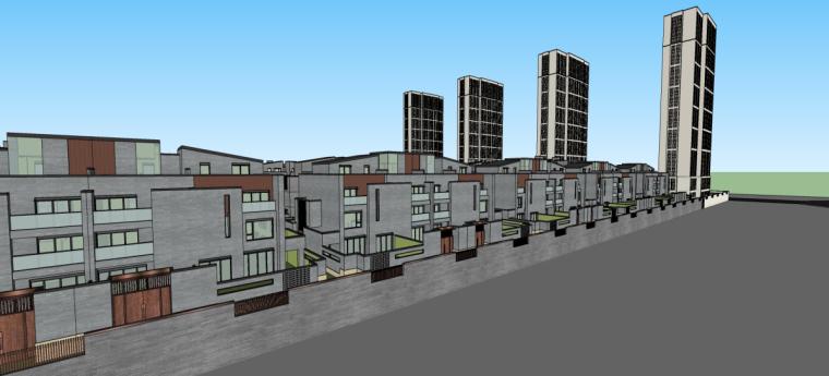 [河南]郑地美景东望住宅整体建筑模型设计-郑地美景东望 住宅整体 (2)