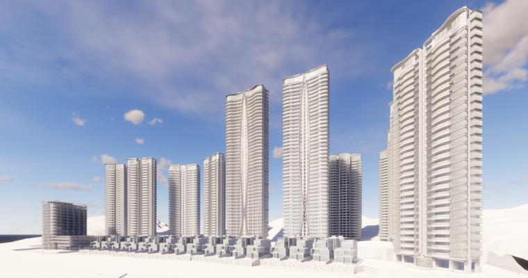 [广东]珠海华发绿洋湾滨海豪宅建筑模型设计(现代风格)-现代风格滨海豪宅 (17)