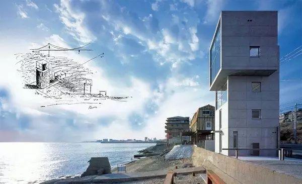 读者票选NO.1的安藤忠雄,设计了一对海边双子楼,用来感悟人生_15