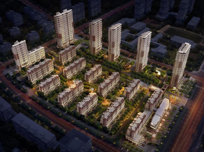 万科璞悦湾小区住宅建筑模型设计