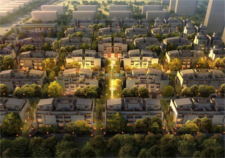 [河南]郑地美景东望住宅整体建筑模型设计-郑地美景东望 住宅整体 (4)