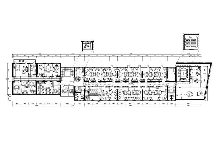 法国Altavia上海办公室施工图+官方摄影-隔墙家具尺寸放样图
