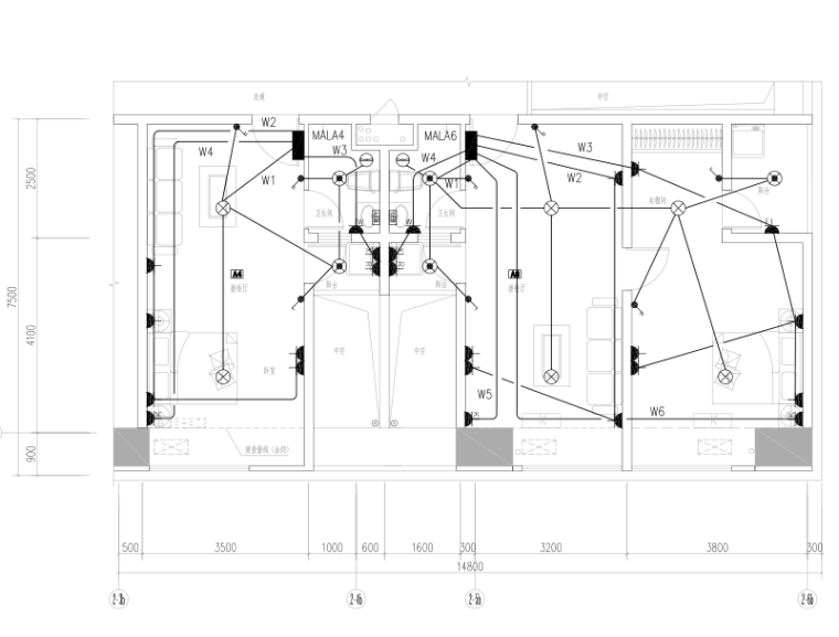 户型配电平面图