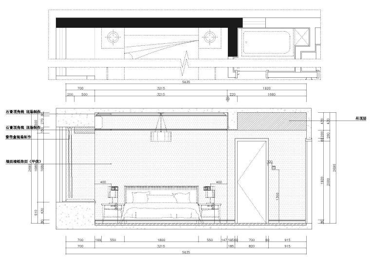 [湖北]武汉知名地产心语样板间CAD施工图+实景图-立面图