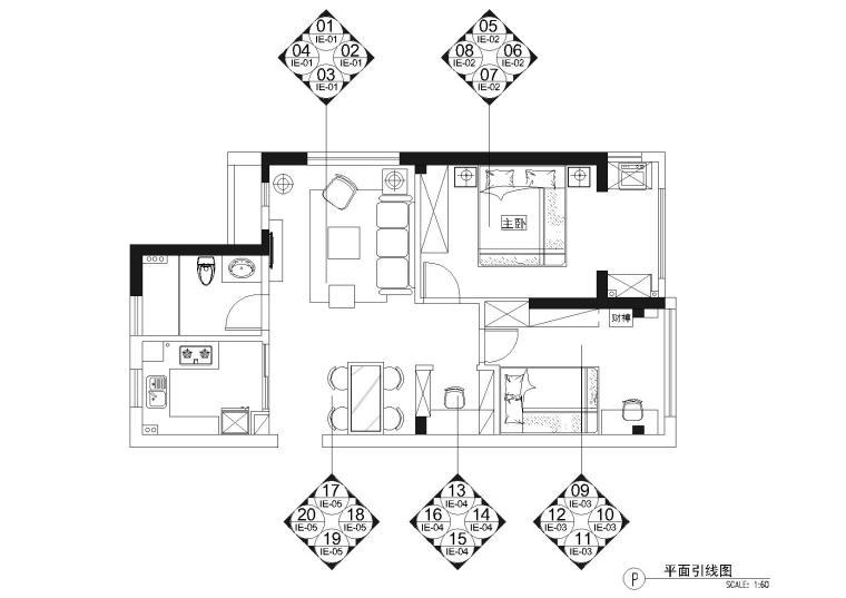 [浙江]杭州冠苑不列颠东方故事样+实景拍摄-立面索引图