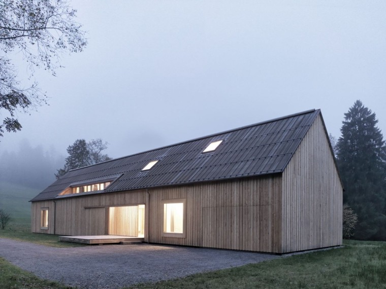 奥地利旷野中的住宅-Entrance_Haus_am_Moor