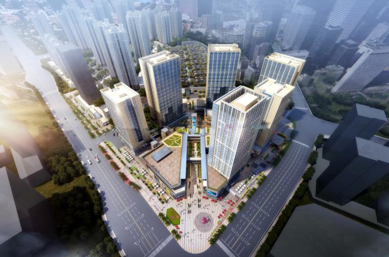 [重庆]巴南乐活城商业综合体建筑模型设计(现代风格)
