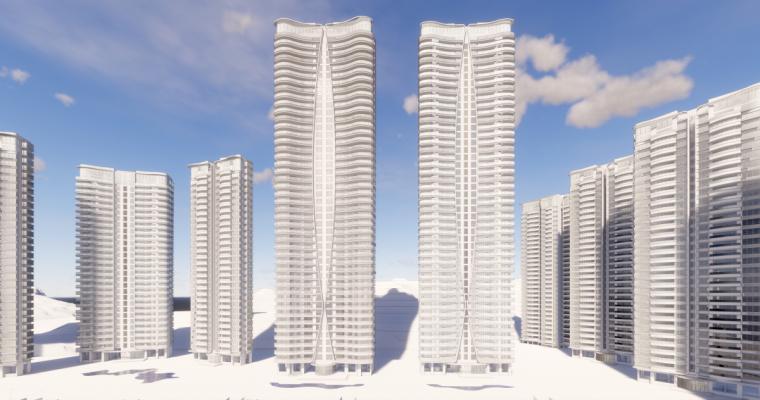 [广东]珠海华发绿洋湾滨海豪宅建筑模型设计(现代风格)-现代风格滨海豪宅 (19)