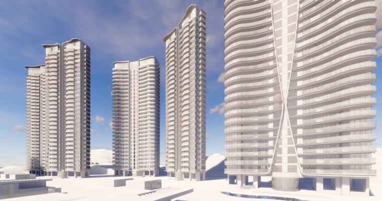 [广东]珠海华发绿洋湾滨海豪宅建筑模型设计(现代风格)-现代风格滨海豪宅 (20)
