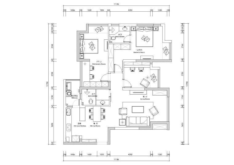 [重庆]DE设计-梧桐公馆样板间CAD施工图+实景拍摄