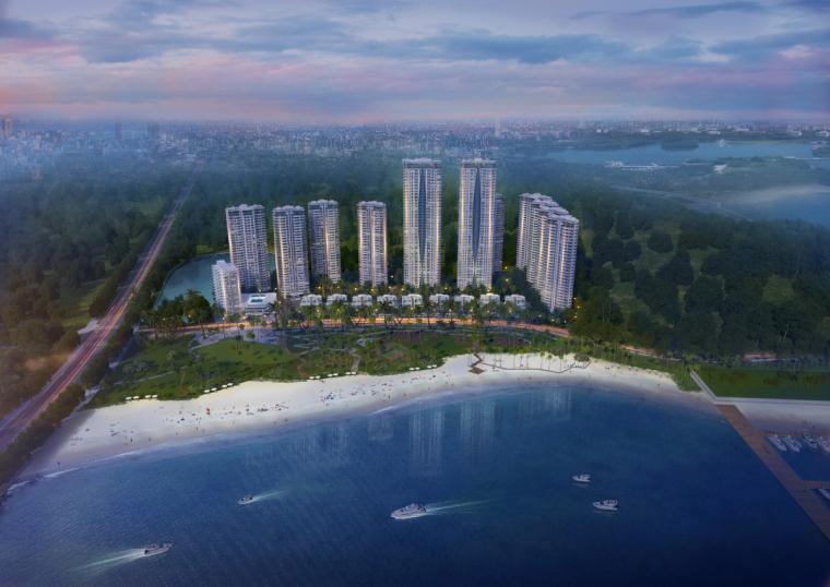 [广东]珠海华发绿洋湾滨海豪宅建筑模型设计(现代风格)-现代风格滨海豪宅 (1)
