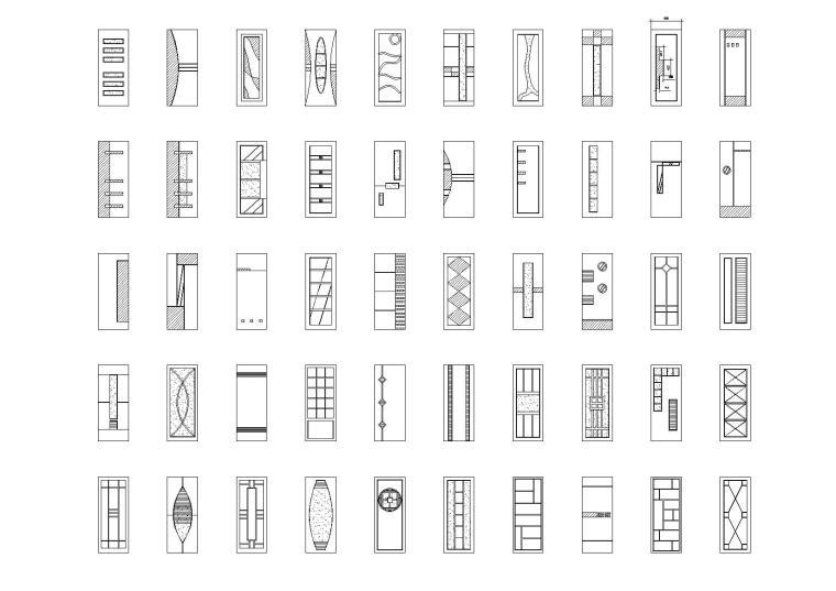 CAD完美图库+铝扣板吊顶大样图-门表图库