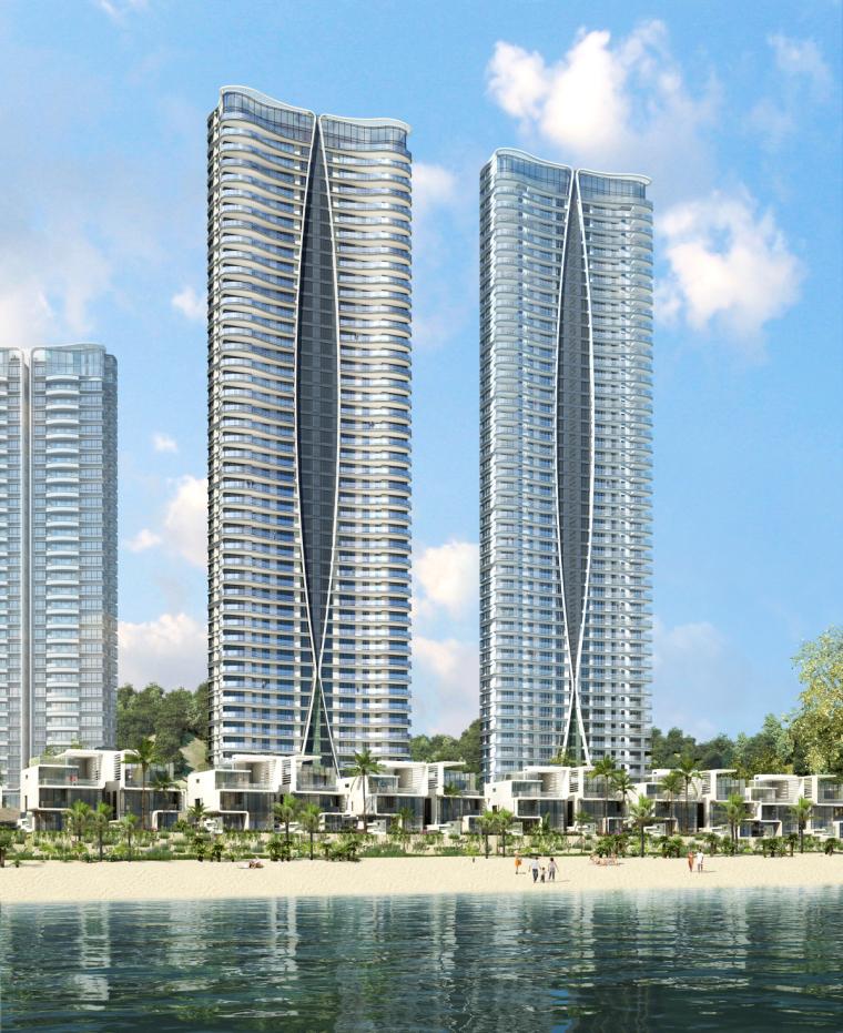 [广东]珠海华发绿洋湾滨海豪宅建筑模型设计(现代风格)-现代风格滨海豪宅 (2)