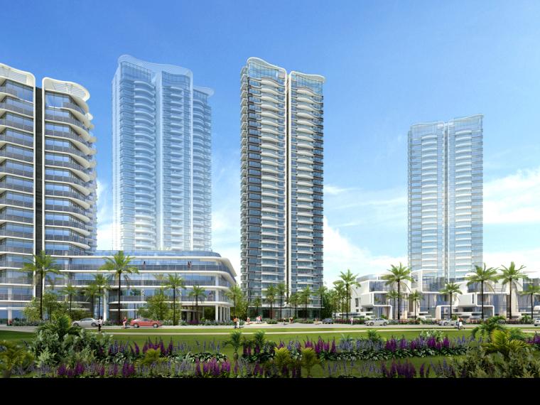 [广东]珠海华发绿洋湾滨海豪宅建筑模型设计(现代风格)-现代风格滨海豪宅 (3)