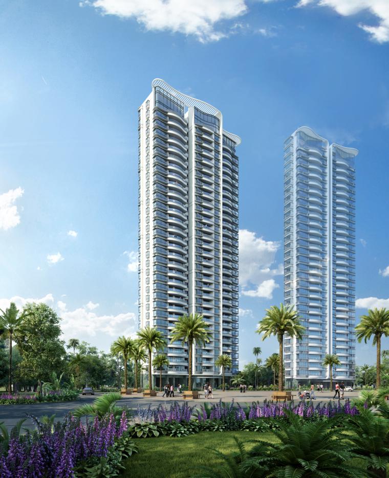 [广东]珠海华发绿洋湾滨海豪宅建筑模型设计(现代风格)-现代风格滨海豪宅 (4)
