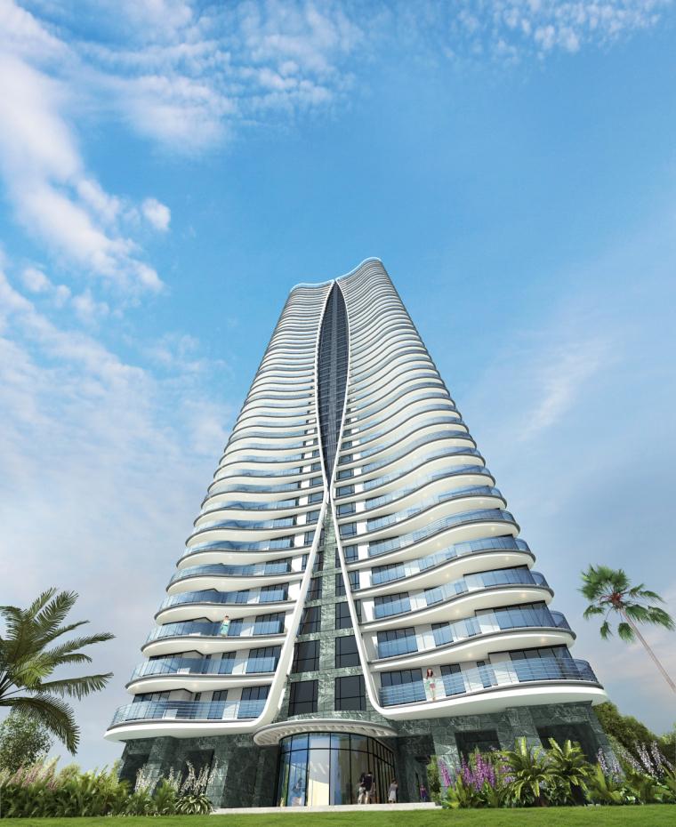 [广东]珠海华发绿洋湾滨海豪宅建筑模型设计(现代风格)-现代风格滨海豪宅 (5)
