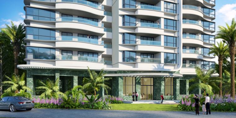 [广东]珠海华发绿洋湾滨海豪宅建筑模型设计(现代风格)-现代风格滨海豪宅 (7)
