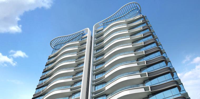 [广东]珠海华发绿洋湾滨海豪宅建筑模型设计(现代风格)-现代风格滨海豪宅 (9)