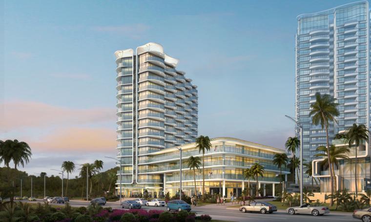 [广东]珠海华发绿洋湾滨海豪宅建筑模型设计(现代风格)-现代风格滨海豪宅 (10)