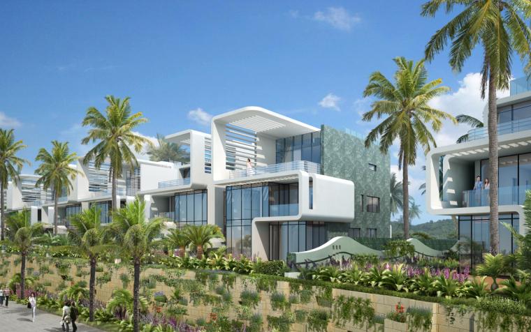[广东]珠海华发绿洋湾滨海豪宅建筑模型设计(现代风格)-现代风格滨海豪宅 (11)