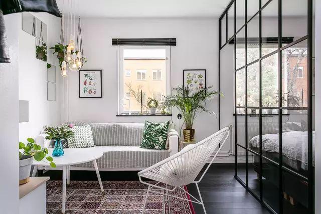 50㎡的小公寓,卧房、客厅、卫浴、厨房、饭厅全都有!_1