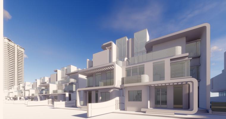 [广东]珠海华发绿洋湾滨海豪宅建筑模型设计(现代风格)-现代风格滨海豪宅 (22)